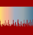 urban morning vector image vector image