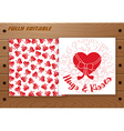 Valentines Day card on wooden table vector image vector image