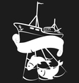 Vessel for fishing vector image vector image