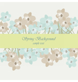 Vintage flowers card border vector image vector image