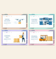 warehouse cargo distribution logistic service set vector image vector image