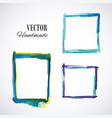 watercolor-frame-blue vector image vector image