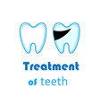 white teeth signs on background vector image vector image