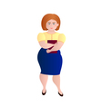 Business fat girl vector image
