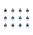 medical infographic duotone icons on white vector image