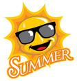cartoon of sunny character vector image