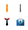 flat icon clothing set of clothing tailoring vector image
