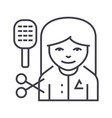 hairdresser line icon sign vector image