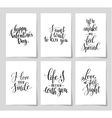 6 hand written lettering positive quote about love vector image vector image