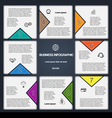 8 options numbered templates for infographic vector image