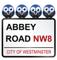 ABBEY ROAD SIGN vector image vector image