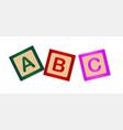 abc blocks vector image vector image