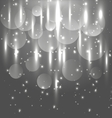 Abstract black and white light glowing background vector image vector image