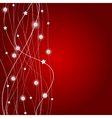 Abstract christmas red background vector image vector image