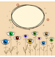 abstract eyes background vector image