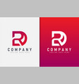 abstract r and d geometric modern logo design