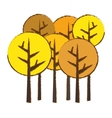 abstract tree icon image vector image