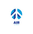 airplane logo air logo airline label airport vector image