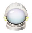 astronaut helmet flat vector image