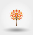 autumn tree icon flat vector image vector image