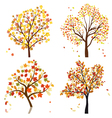 Autumn tree set vector | Price: 1 Credit (USD $1)