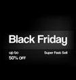 banner for sale on black friday with text space vector image vector image