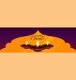 beautiful hindu diwali festival diya banner design vector image vector image