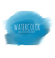 blue paint watercolor brush stroke background vector image vector image