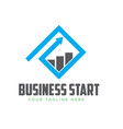business grow start logo designs vector image