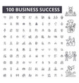 business success editable line icons 100 vector image vector image