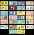 cartoon kids alphabet vector image vector image