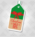 christmas sale price tag promotion discount banner vector image