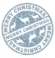 Christmas stamp template vector image