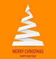 Christmas tree made of folded paper origami 01 vector image vector image