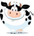 cute fat cow farm animal cartoon vector image vector image