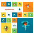 dessert icon set in modern flat design style vector image vector image