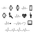 electrocardiogram ecg or ekg - medical vector image