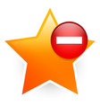 favorite icon with minus remove from favorites vector image