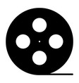 film reel silhouette iconcinema production symbol vector image