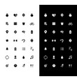 fitness glyph icons set for night and day mode vector image