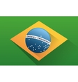 Flag of brazil design vector image vector image