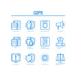 gdpr icons set - general data vector image vector image
