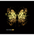 Gold butterfly vector | Price: 1 Credit (USD $1)