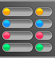 gray buttons set in different sizes vector image