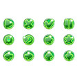green circles collection set glass buttons vector image vector image