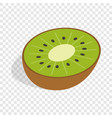 half of kiwi fruit isometric icon vector image