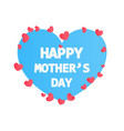 happy mother day flat style vintage paper card vector image