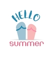 Hello summer beach sneaker web icon vector image