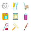 house repair icons set cartoon style vector image vector image