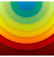 Infographics rainbow round paper shapes abstract vector image